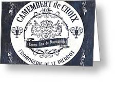 Vintage French Cheese Label 3 Greeting Card