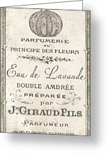 Vintage French Perfume Sign Greeting Card