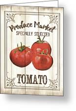 Vintage Fresh Vegetables 4 Greeting Card