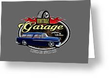 Vintage Garage With Nomad Greeting Card