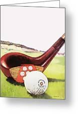 Vintage Golf Art - Circa 1920's Greeting Card