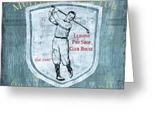 Vintage Golf Blue 1 Greeting Card