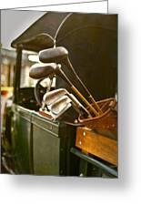 Vintage Golf Set Greeting Card