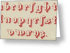 Vintage Gothic Font Red Greeting Card