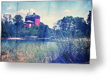 Vintage Great Lakes Lighthouse Greeting Card