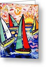 Vintage Green Bay Sailing Greeting Card