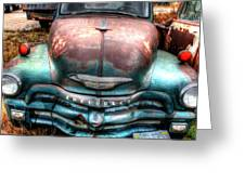 Vintage Green Chevy Truck Greeting Card