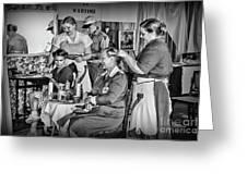 Vintage Hair Dresser Greeting Card
