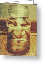 Vintage Halloween Horror Jar Greeting Card
