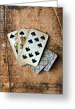 Vintage Hand Of Cards Greeting Card