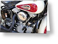 Vintage Harley V Twin Greeting Card by David Lee Thompson