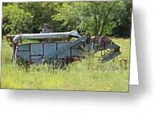Vintage Harvester In A Field Greeting Card