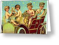 Vintage Holiday Postcard Greeting Card