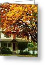 Vintage Home In Autumn Greeting Card