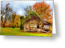 Vintage House Surrounded By Autumn Beauty Ap Greeting Card