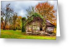 Vintage House Surrounded By Autumn Beauty Greeting Card