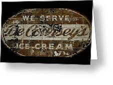 Vintage Ice Cream Mural  Greeting Card
