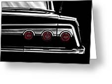 Vintage Impala Black And White Greeting Card