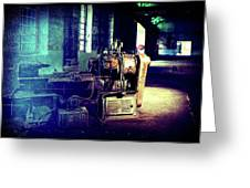 Vintage Industrial Blueprint Greeting Card