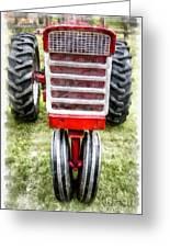 Vintage International Harvester Tractor Greeting Card