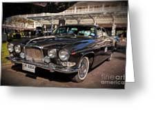 Vintage Jaguar Greeting Card