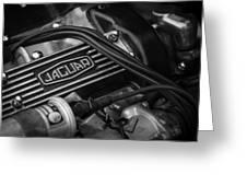 Vintage Jaguar Engine Greeting Card