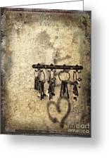 Vintage Keys Greeting Card
