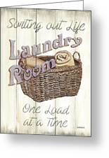 Vintage Laundry Room 2 Greeting Card