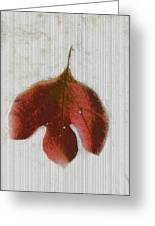 Vintage Leaf Greeting Card