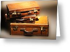 Vintage Leather Suitcases Greeting Card