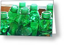 Vintage Lemonade Glass Bottles Greeting Card