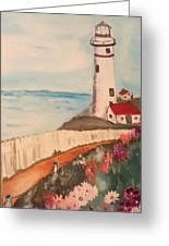 Vintage Lighthouse Greeting Card