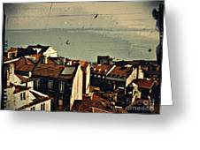 Vintage Lisboa Greeting Card