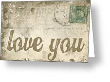 Vintage Love Letters Greeting Card