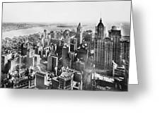 Vintage Lower Manhattan Skyscraper Photo - 1913 Greeting Card