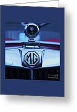 Vintage M G Emblem Greeting Card