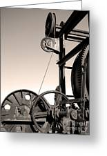 Vintage Machinery Greeting Card