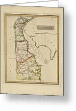 Antique Map Of Delaware Greeting Card