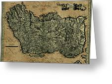 Vintage Map Of Ireland 1771 Greeting Card