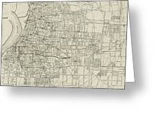 Vintage Map Of Memphis Tennessee - 1911 Greeting Card