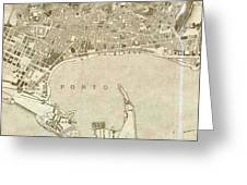 Vintage Map Of Messina Italy - 1900 Greeting Card