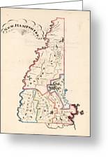 Vintage Map Of New Hampshire - 1819 Greeting Card