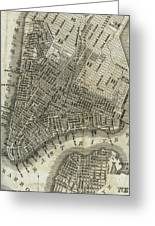 Vintage Map Of New York City - 1842 Greeting Card