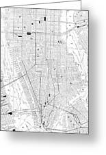 Vintage Map Of New York City - 1911 Greeting Card