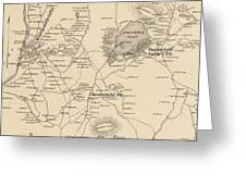 Vintage Map Of Spofford And Chesterfield Nh - 1892 Greeting Card