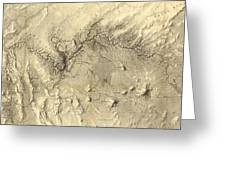 Vintage Map Of The Colorado River - 1858 Greeting Card