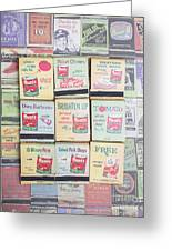 Vintage Matchbooks Greeting Card