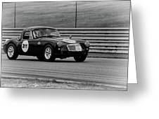 Vintage Mg On Track Greeting Card