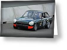 Vintage Mg Race Car Greeting Card