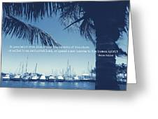 Vintage Miami Quote Greeting Card